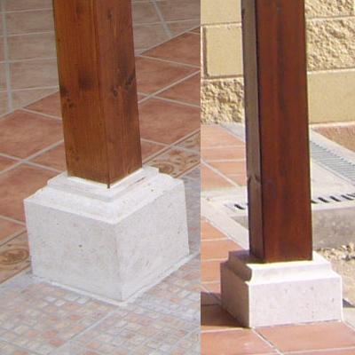 Estructuras de abeto laminado para porches pergolas y - Bases para pergolas ...
