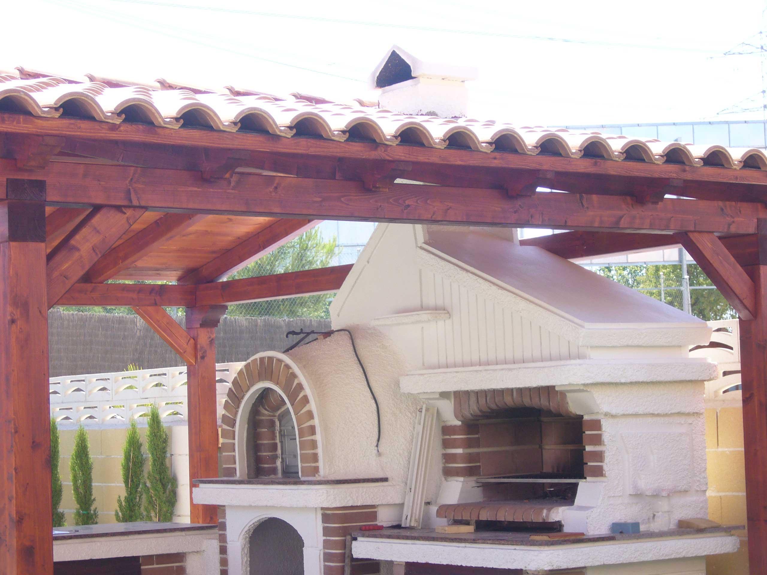 Porches de madera con barbacoa simple porches de madera - Porches con barbacoa ...