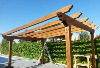 Porches de madera cenadores y pergolas en madrid - Porches de madera en kit ...