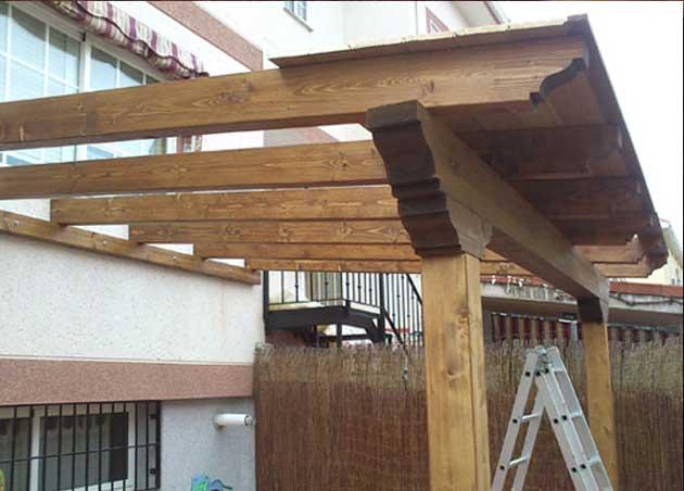 Como hacer una pergola de madera todo para construir y - Como hacer un porche de madera ...